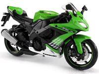 MAISTO 1:12 Kawasaki Ninja ZX 10R MOTORCYCLE BIKE DIECAST MODEL Toy New in Box