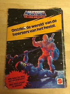 He-Man Masters of the Universe Official Mattel Dutch Booklet Vintage 1985. RARE!