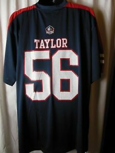 New York Giants Lawrence Taylor #56 Men's Majestic Hall of Fame Jersey Big/Tall