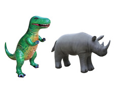 Tyrannosaurus T-Rex Rhinoceros Rhino Jurassic Safari Animal Dinosaur Inflatable