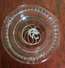 Vintage Mgm Grand Hotel & Casino Las Vegas Glass Ash Tray Collectible Souvenir