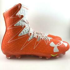 New listing New Under Armour Highlight MC Football LAX Cleats Orange White Mens Size 9