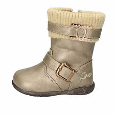 scarpe bambina ENRICO COVERI 21 EU stivaletti oro pelle sintetica AD849-D