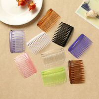 12pcs Colorful Plastic Hair Clip Combs Lady Vintage Small Combs Insert Combs