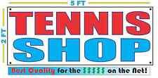 TENNIS SHOP Banner Sign NEW 2X5