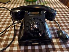 Telefono in bachelite nero Fatme a disco vintage CONDIZIONI DA MOSTRA...NUOVO!!!