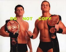 "WWE PHOTO CODY RHODES & DREW McINTYRE 8x10"" PROMO WRESTLING BELTS NXT"