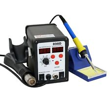 898D 2-in-1 Electric SMD Soldering Station Hot Air Heat Gun 110V