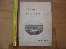 1904 Programme A BORD D'ILE DE FRANCE XXe croisiere revue generale des sciences