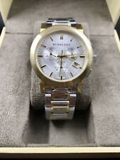 BURBERRY The City Chronograph Two-Tone Mens Swiss Made Watch BU9751 $895