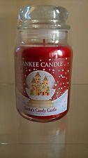 Yankee Candle Frasco Grande Santa's Candy Castillo raro duro encontrar Edición Limitada