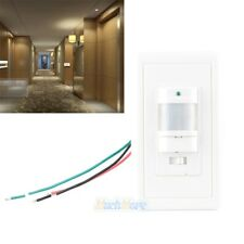 Occupancy Motion Sensor Wall Switch PIR Manual On/Off White Infrared Automatic