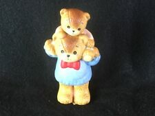 Vintage Enesco Lucy & Me Bear Figures Carry me on your Shoulders 1980's