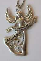 g Madeline Never Drive faster than your GUARDIAN ANGEL can fly CAR CHARM ganz