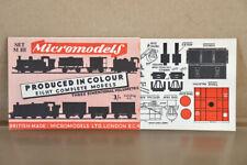 MICROMODELS SET MIII FREIGHT TRAIN WAGON SET CARD KIT ny