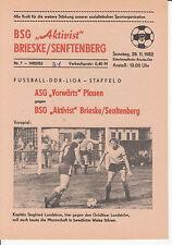 DDR-Liga 82/83 BSG Aktivist Brieske/Senftenberg - ASG Vorwärts Plauen, 28.11.82