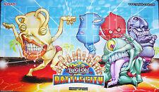 2014 Ojama Battle City Yugioh Game Playmat Official Tournament Mat HARD TO FIND