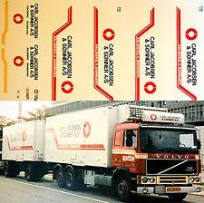Volvo Carl Jakobsen & Sonner A/S Expédition 1:87 camion autocollant décalcomanie