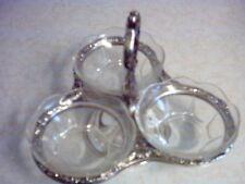 sheridan glass & silver plate candy dish