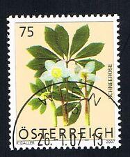 AUSTRIA 1 FRANCOBOLLO FIORI HELLEBORUS NIGER 2007 timbrato