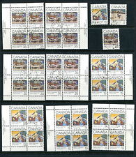 Used Canada 1980 Christmas Collection- 2 SCANS (CV $21) #650-653 (Lot #rn103)
