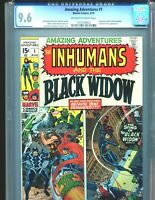 Amazing Adventures 1 CGC 9.6 Black Widow Fantastic Four appearances 1970 Marvel