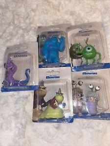 Set Of 5 Mattel Disney Pixar Monsters Inc. Collectible Toy Mini Figures 2019 New