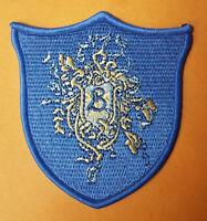 "Harry Potter Goblet of Fire Beauxbatons School Crest Logo Patch 3 1/2"" tall"