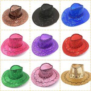 Sequin Cowboy Hat Adults size 10 Colours