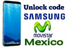 Unlock code Movistar Samsung S8 S8 plus S7 edge j1 j2 j3 j5 j7 a3 a5 grand prime