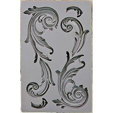 Flourish Design Art Decor Silicon Mold for Soap, Food, Chocolate, Paper & Clay