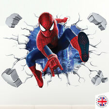 3D SPIDERMAN Wall Sticker Vinyl Art Home Bedroom Marvel Poster Avengers Ironman