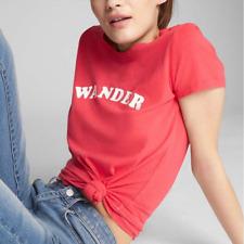 New! Gap women's red retro look WANDER t-shirt - XS - graphic print vintage top