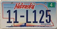 GENUINE  Nebraska .gov Covered Wagon License Licence Number Plate Tag 11-L125