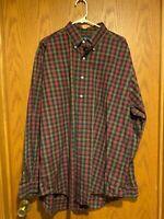 Ralph Lauren Classic Fit Red/Green/Blue/Yellow Plaid Shirt -XL– EUC