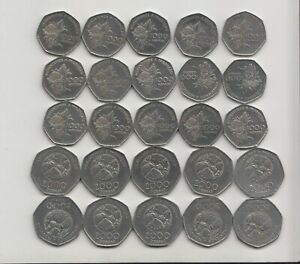 25 coins SAN SAO TOME AND PRINCIPE 15 x 1000, 10 x 2000 DOBRAS 1997