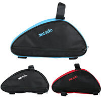 1.5L Waterproof Front Tube Triangle Frame Bag Pouch Black Cycling Bike Bicycle