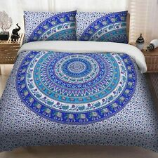 Indian Elephant Mandala King Size Cotton Duvet Cover Hippie Bedding Quilt Cover