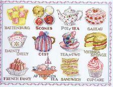 Afternoon Tea Sampler Cross Stitch Kit DMC