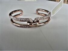 Michael Kors Black Ion Plated Pave' Link Cuff Bracelet MSRP $125