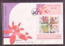China Macau Macao 1991 Flowers, MS on FDC
