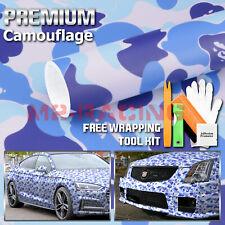 24x60 Blue Ape Camouflage Camo Car Vinyl Wrap Sticker Decal Film Air Release