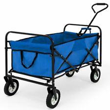Carrello pieghevole con ruote carico max. 100 kg giardino spiaggia mare
