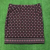 NWT WOMENS J JILL Floral Paisley PRINT SKIRT ELASTIC WAIST $69 New! Sz M Medium