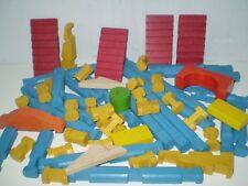 JEU DE CONSTRUCTION EN BOIS JEUJURA : 61 pièces // SANS BOITE