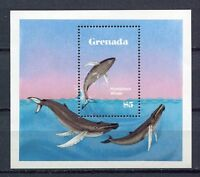 25454) Grenada 1982 MNH New Dolphins Whales S/S Bf