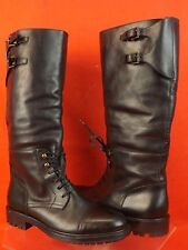 NIB BELSTAFF BANBRIDGE BLACK LEATHER LACE UP TRAILMASTER TALL  BOOTS 41 $1095