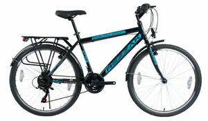 "26""Zoll Fahrrad Herrenfahrrad Jungenfahrrad Kinder Rad 21 Gang Schwarz Blau -046"