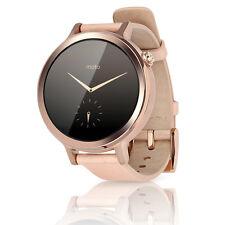 Motorola Moto 360 2nd Generation 42mm Smartwatch Leather Band - Rose Gold Blush