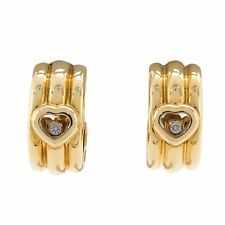 Chopard Happy Hearts 18k Yellow Gold Floating Diamonds Ladies Designer Earrings